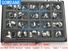 80 Pcs /Box Dental orthodontic Flat Band prewelded with buccal tubes Dental Material Bands