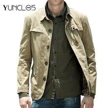Yunclos хаки куртки мужские и пальто уличная куртка Бомбер для