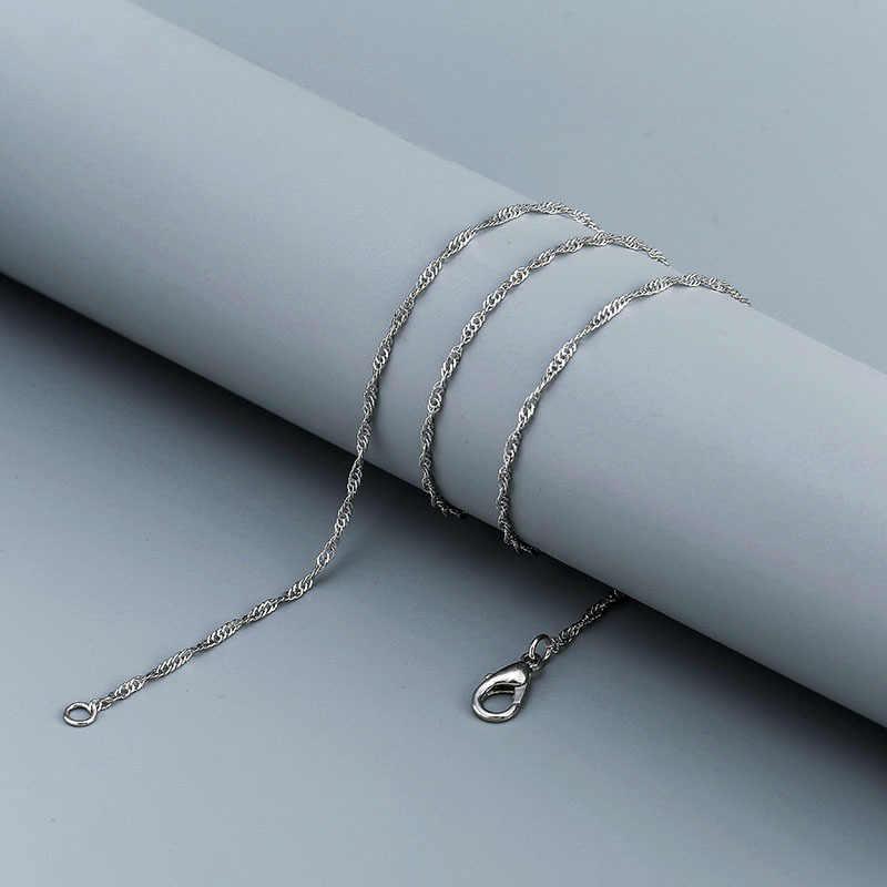 랍스터 걸쇠와 골드 실버 체인 목걸이 남자 여자 diy 워터 웨이브 체인 펜던트 체인 핸드 액세서리 jewelle