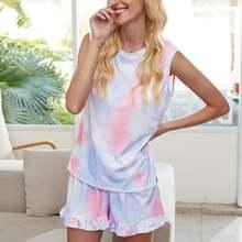 Женский летний комплект из двух предметов: шорты и пижама