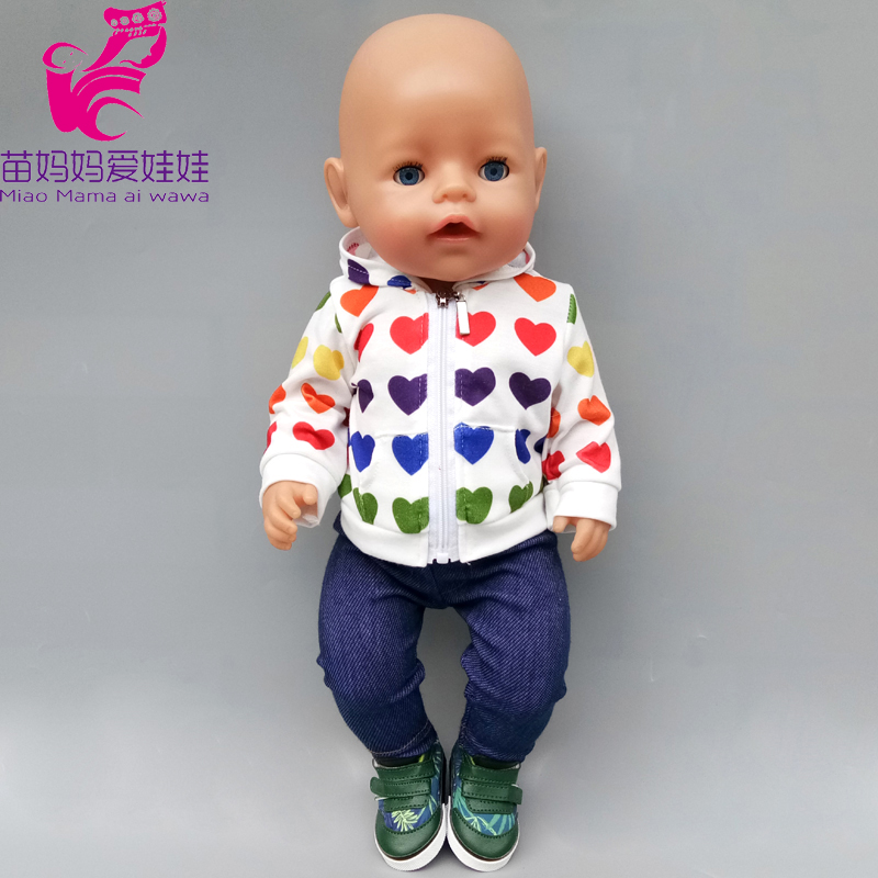 Born Baby Doll Clothes Sleeping Pajamas Sets 18 Inch American Doll Clothes Tracksuit