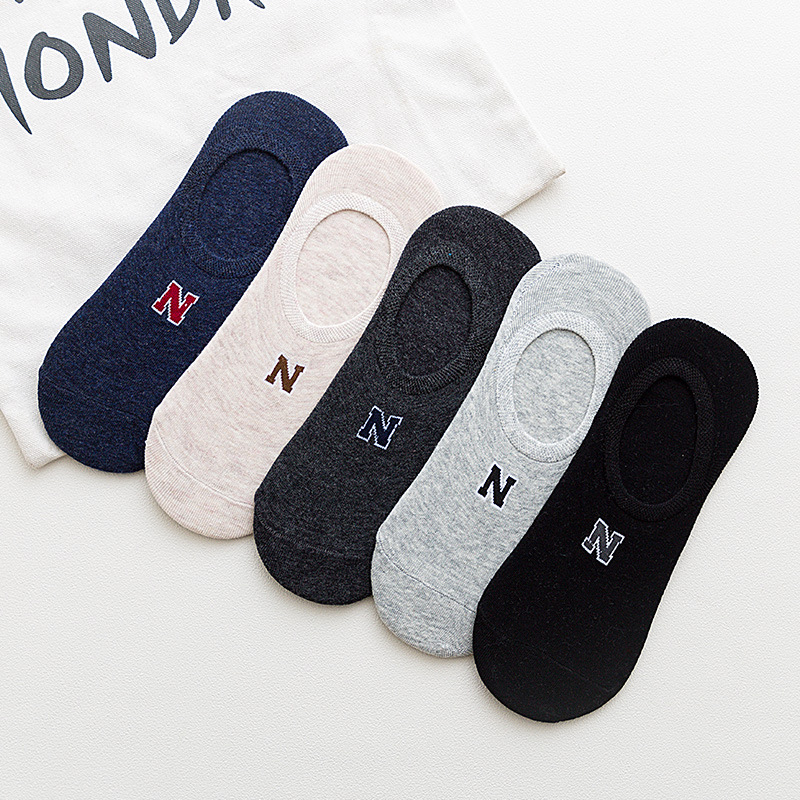 1 Pair Men's Socks Cotton Stripe Boat Socks All Seasons Spring Autumn Male Casual Harajuku Breathable Men Ankle Sock Meias