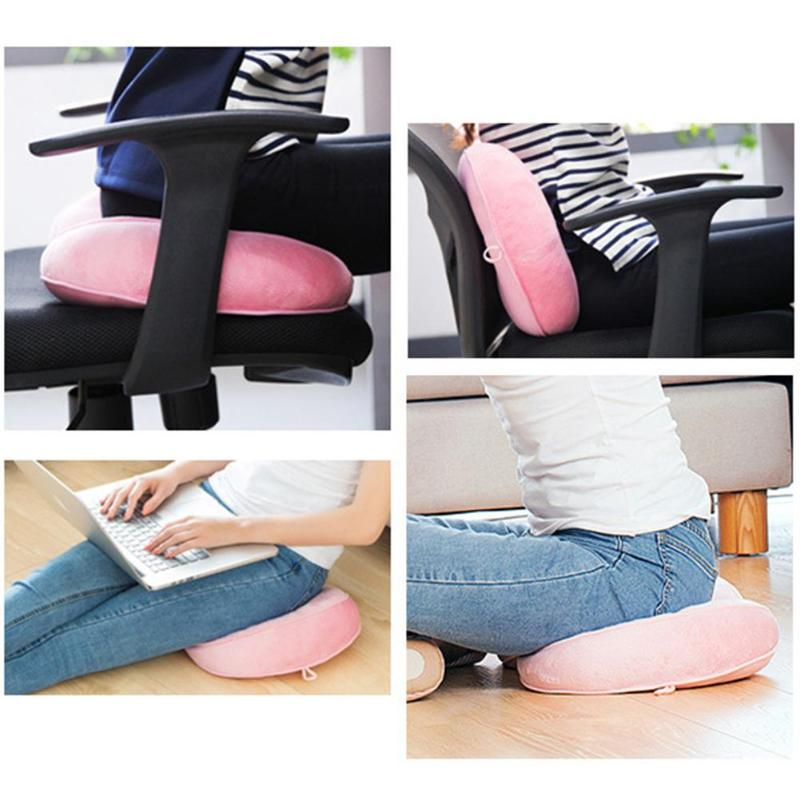 Dual Comfort Cushion Plush Folding Pillow Shape Hip Cushion Lift Hips Up for Fits Car Seat Home Office Drophship