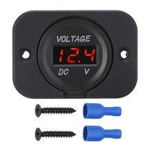 Красный светодиодный вольтметр 12 в 24 В постоянного тока панель