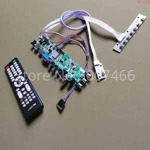 Ajuste LP156WHB-TLC1/tlc2/tld1/tld2 1366*768 3663 tv digital av vga usb dvb atualização tela 40 pinos lvds lcd drive board kit diy