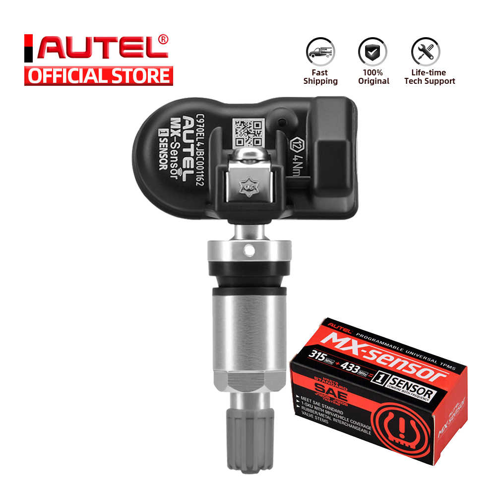 AUTEL MX 센서 433 315 TPMS Mx-센서 스캔 타이어 수리 도구 자동차 액세서리 타이어 압력 모니터 MaxiTPMS 패드 프로그래머