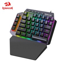 Redragon K583 RGB One-handed Mechanical Gaming Keyboard Blue Switch 4 Macro keys For Android/ios/windows For FPS LOL/PUBG Games(China)