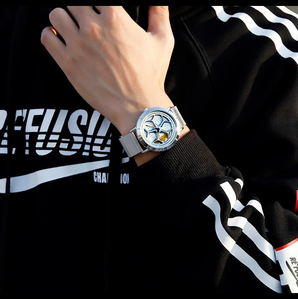 H35bf6ea84d0a4c95b044722f55de5bebC Men's Watch 360 Degree Wheel Rotation Creative Quartz