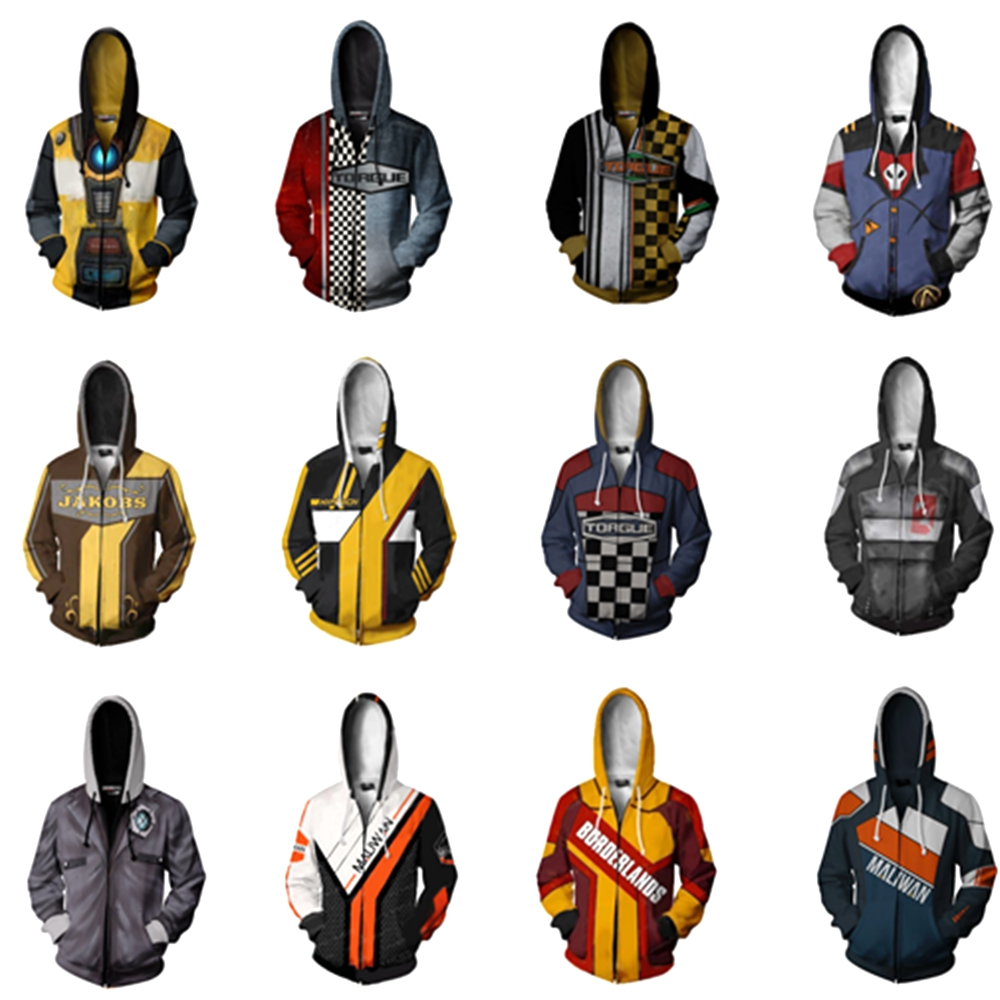 Borderlands Hyperion Torgue Hoodie Sweatshirts Men Women Hoodies Fashion Zipper Hooded Jacket Coat Cosplay Costume Streetwear