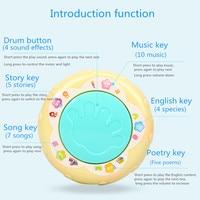 LED Muziek Vroege Educatief speelgoed Learning Developmental Baby Rammelaars Grappige Kinderen Baby Speelgoed Carrousel Musical Hand Drum Beat 3