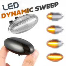 2 pces led dinâmico lado marcador luzes volta repetidor lâmpada para toyota aygo 2005-2020 para fiat scudo 2007-2020