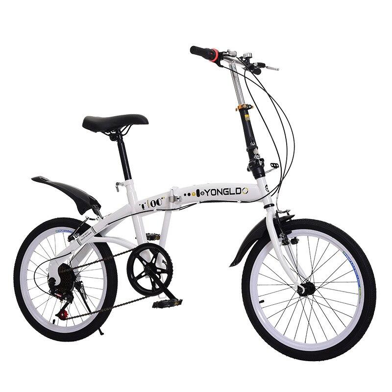 20-inch 6-velocidade dobrável bicicleta de alta-quadro de pintura de aço carbono pedal compacto adulto das crianças