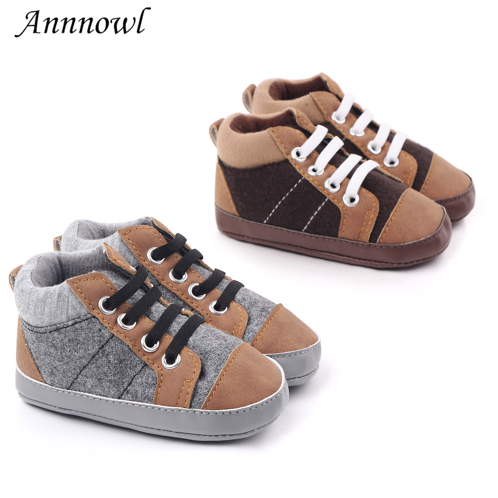 Fashion Brand Baby Boy Shoes Anti-slip Soft Sole Toddler First Step Walker Infant For 1 Year Old Boys Crib Shoe Newborn Footwear