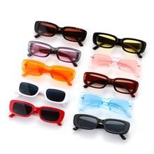 Lunettes de soleil à la mode pour femmes, petite monture rectangulaire, Protection UV400