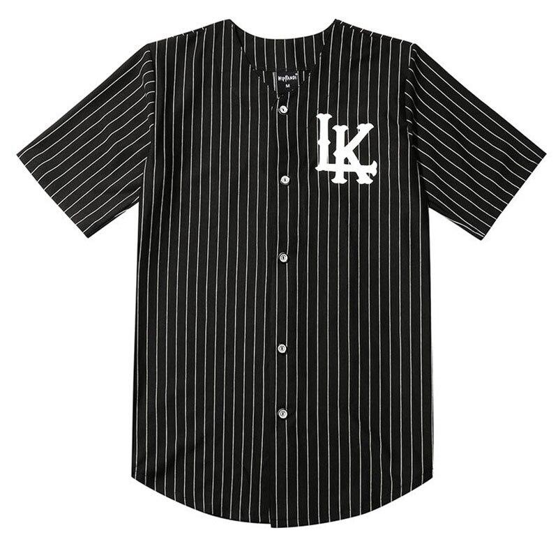 Мужская модная бейсбольная Униформа 07 King Ln Lake, бейсбольная униформа, белая и черная Уличная Хип-Хоп Мужская и женская футболка с коротким ру...