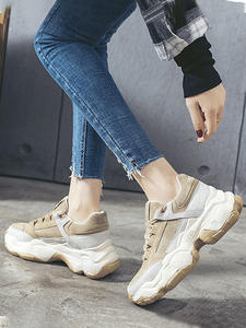Ladies Shoes Women Sneakers Smile Circle Thick-Bottom Breathable New Girl Outdoor Flat