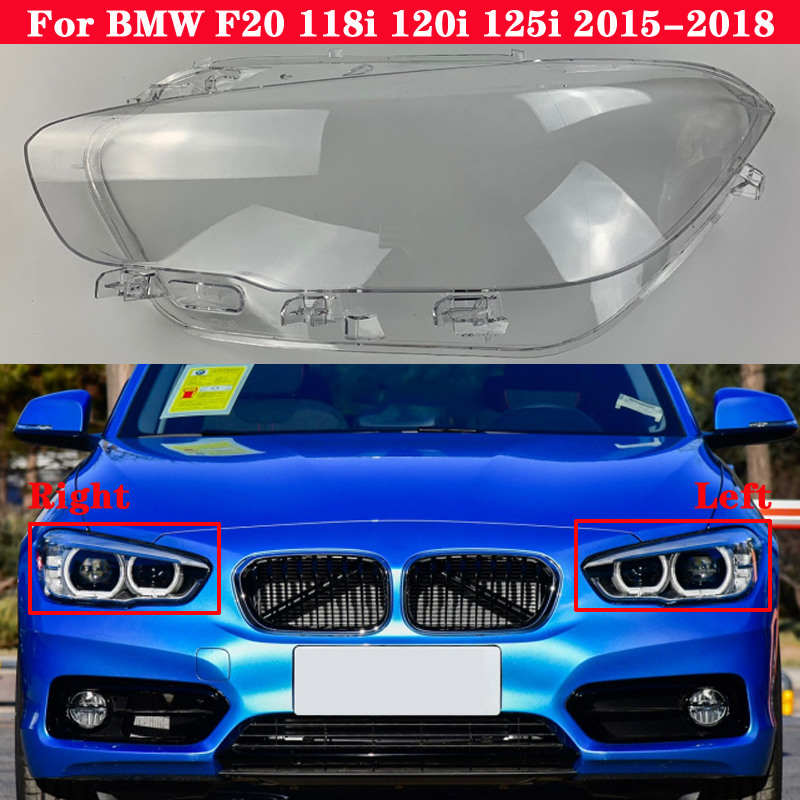 For BMW 1 Seriers F20 118i 120i 125i 2015-2018 Car Front Headlight Cover Auto Headlamp Lampshade Lampcover Head light Lamp glass image