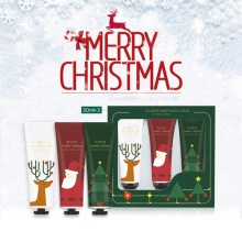 3pcs Christmas Hand Cream Set Moisturizing Nourishing Skin Lighten Fine Lines Hand Care Cream Winter Gift