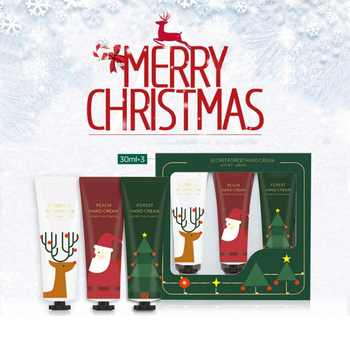 3pcs Christmas Hand Cream Set Moisturizing Nourishing Skin Lighten Fine Lines Hand Care Cream Winter Gift - DISCOUNT ITEM  25% OFF All Category