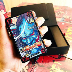 Image 3 - Original Vapelustion Hannya 230w Box Mod With LED Screen Powered By Dual 18650 Battery Electronic Cigarette Hannia Vape MOD