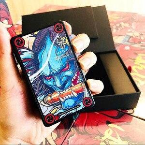 Image 3 - Originele Vapelustion Hannya 230W Doos Mod Met Led Scherm Aangedreven Door Dual 18650 Batterij Elektronische Sigaret Hannia Vape Mod