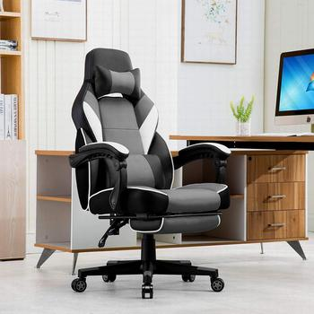 Office Chair Gaming Game Chair in Leatherette, Reclining Racing Chair Ergonomic Swivel Seat High Back