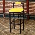 30% 1B Скандинавский современный минималистичный барный стул барный высокий стул домашний кованый железный журнальный столик из массива дер...
