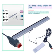 цена на Replacement Infrared TV Ray Wired Remote Sensor Bar Reciever Inductor for Nintendo for Wii for Wii U Console