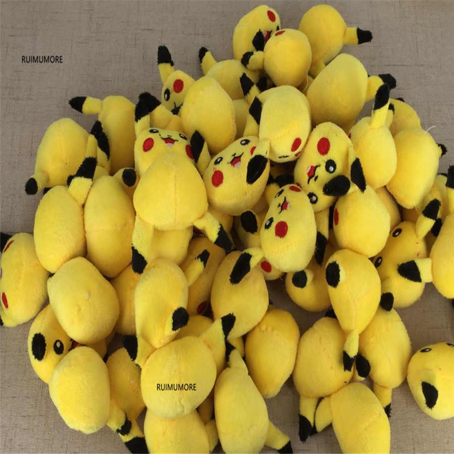 1 pièce mini petit 4cm mignon chat jaune en peluche, cheveux cravate accessoires décoration peluche poupée