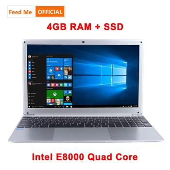 15.6 Inch 1080P Laptop Intel E8000 Quad Core 4GB RAM 128GB 256GB SSD Notebook with Bluetooth webcam WiFi for Student Office 1