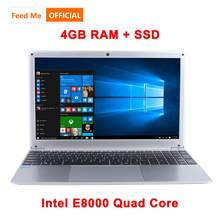 15.6 Inch 1080P Laptop Intel E8000 Quad Core 4 Gb Ram 64 Gb 128 Gb 256 Gb Ssd Notebook met Bluetooth Webcam Wifi Voor Student Office(China)