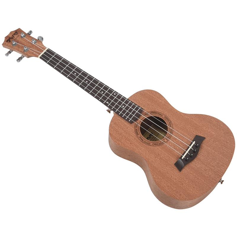 BWS EST & 1988 26 cali mahoń drewno 18 progu Tenor Ukulele akustyczna Cutaway gitara mahoń drewno Ukelele hawaje 4 ciąg Guitarra