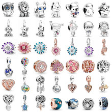 925 Sterling Silver Moments Charms fit Original Pandora charm bracelet Ocean series s925 Beads DIY Jewelry