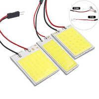 1x festón de bombilla Led COB C10W C5W 31mm 36mm 39mm 42mm 5W5 T10 W5W COB LED para luz de lectura Interior automática, lámpara de placa de matrícula