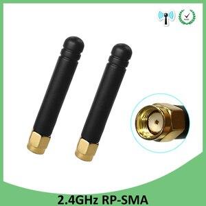Image 1 - 5 stücke 2,4 GHz WiFi Antenne 2dBi Luft RP SMA Stecker 2,4 ghz antena wi fi antenne Für Wireless Router wifi Booster