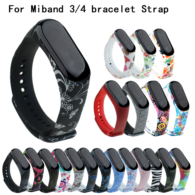 Suitable For Mi Band 4 Sports Silicone Strap For Xiaomi Mi Band 3/4 Bracelet Replacement Strap