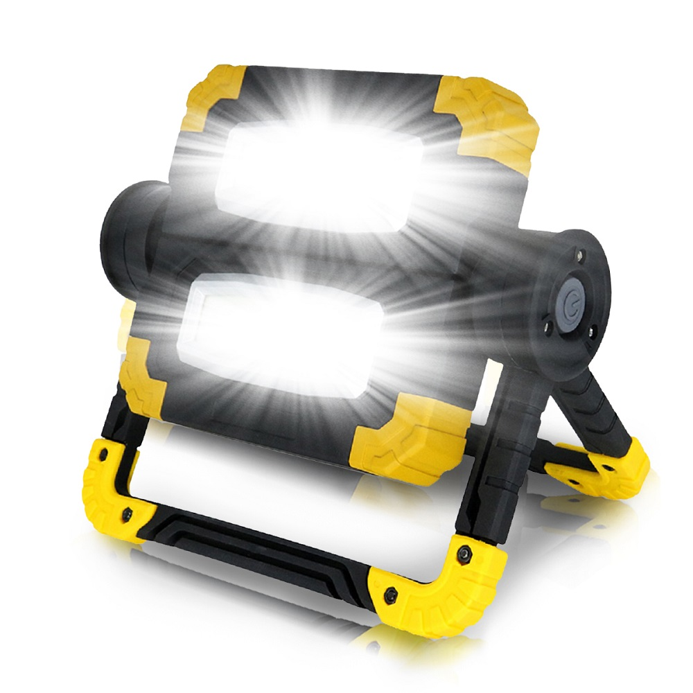 High Power Super Bright Portable Spotlight LED Work Light Lamp Waterproof 3-Mode Spotlight USB Rechargeable Floodlight For Camp