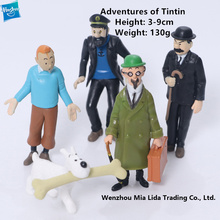 Hasbro Adventures of Tintin 5pcs/set Doll Model toys Show model toys цена