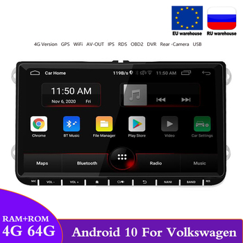 2 Din Android 10 Octa-Core For 9inch Orignal VW Volkswagen Skoda Octavia GPS Radio Car Multimedia Player RDS Carplay Autoradio image