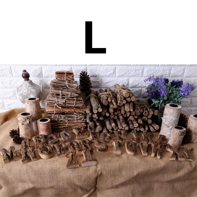Вместе с коры твердой древесины Ретро Деревянный Английский алфавит номер для кафетерий украшение для дома, ресторана винтажная самодельная буква - Цвет: L