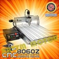 CNC 8060 axis 1500W USB MACH3 3 CNC ROUTER GRAVADOR/GRAVURA DE PERFURAÇÃO E FRESADORA 110/220VAC
