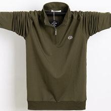 Рубашка поло мужская с длинным рукавом повседневная тенниска