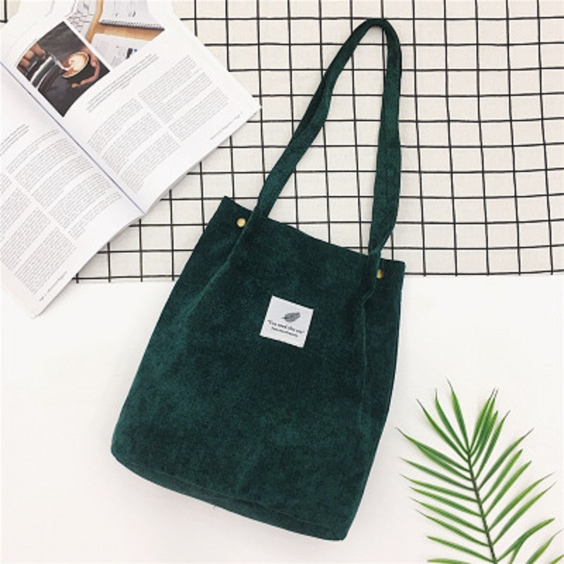 LOOZYKIT, Женские однотонные вельветовые сумки на плечо, сумка для покупок, большая посылка, сумки через плечо, кошельки, Повседневная сумка для женщин, сумка для книг