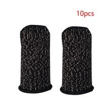 10pcs Mobile Game Controller Fingertip Gloves Anti-slip Breathable Phone Game Fingertip Cover Touch Finger Gloves