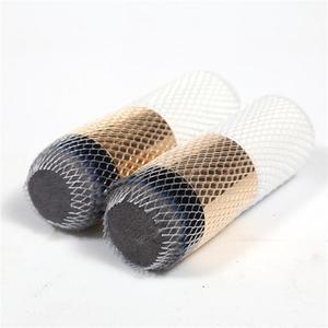 Image 2 - 50/100pcs איפור מברשות נטו מגן משמר אלסטי רשת יופי איפור קוסמטי מברשת עט כיסוי
