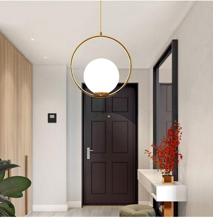 Nordic Modern Style Glass Ball Bubble Iron Herringbone Branch Pendant Light Living Room Restaurant Bedroom Bar Hanging Lighting