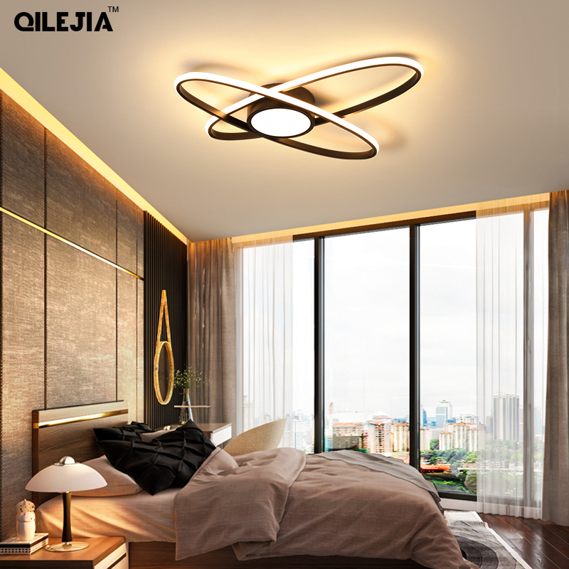 Modern Led Chandelier For Living Room Bedroom Aluminum Creative Design With Remote Control Lamp Home Chandelier