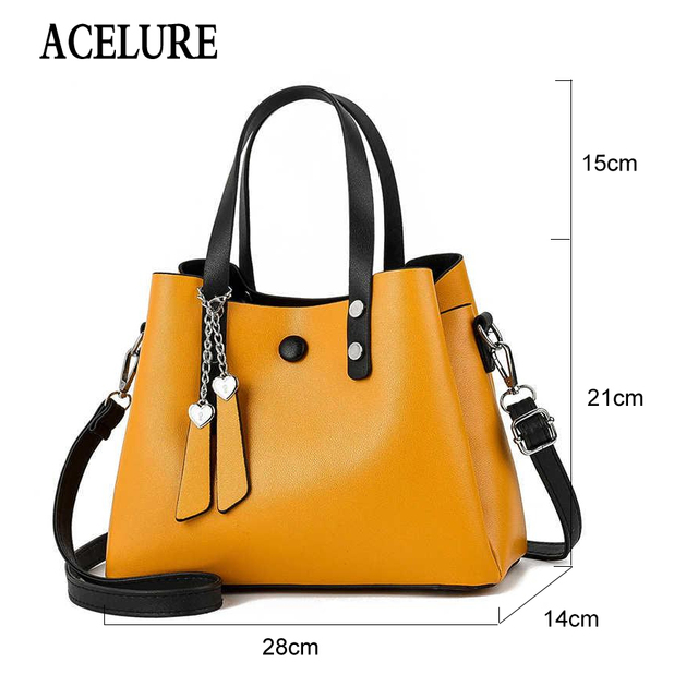 ACELURE Luxury Handbags Women Bags Designer New Fashion PU Leather Women Bag Woman Tote Bags for Women Casual Ladies Hand Bags