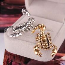 NEULRY Trendy Men Women Scorpion 3D Earrings 1pc Stereoscopic