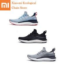Xiaomi Mijia الأحذية الرياضية 4 أحادي النفخ عالية المرونة تحلق المنسوجة العلوي هيكل السمكة قفل المطاط المضادة للانزلاق تطهير للبكتيريا